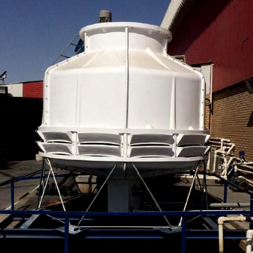 شرکت کولينگ تاور توليد کننده انواع برج خنک کننده فايبرگلاس مخروطي مکعبي و صنعتي